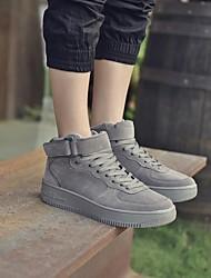povoljno -Muškarci Cipele Umjetna koža Zima Jesen Udobne cipele Sneakers za Kauzalni Crn Sive boje