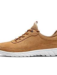 cheap -Men's Pigskin Spring / Fall Comfort Sneakers Dark Blue / Light Grey / Light Brown