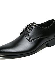 Pánské Obuv Kůže Jaro Léto Společenské boty Oxfordské Nýty pro Svatební Party Bílá Černá Hnědá