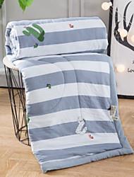 baratos -Confortável Tecido Simples Tecido Simples Acolchoado 300 Tc Listrado