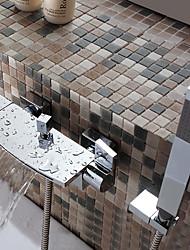 Недорогие -Смеситель для ванны - Современный Хром Ванна и душ Керамический клапан