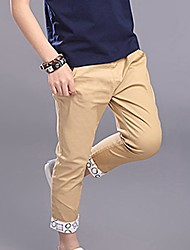 cheap -Boys' Daily Solid Pants, Special Leather Types Spring Summer Casual Light Blue Khaki