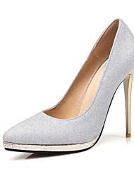 preiswerte -Damen Schuhe Glitzer Paillette Frühling Sommer Pumps High Heels Stöckelabsatz Spitze Zehe für Hochzeit Party & Festivität Gold Silber