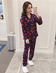 cheap -Women's Suits Pajamas-Print,Floral