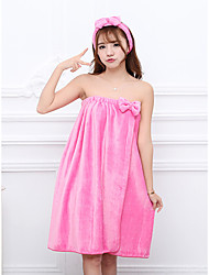 Недорогие -Свежий стиль Банный халат, Однотонный Высшее качество Фланель Флис Полиэфирная смесь 2pcs