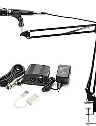 baratos -KEBTYVOR E-300 Com Fio 3.5mmMicrophoneMicrofone microfone do estúdio Braço de Mesa para Microfone Microfone Condensador Microfone Portátil
