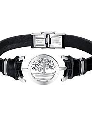 cheap -Men's Link Bracelet - Leather Bracelet Black For Daily / Date