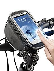 preiswerte -ROSWHEEL Fahrradtasche 1.5L Fahrradrahmentasche Handy-Tasche Regendicht Einfach zu installieren Reflexstreiffen Tasche für das Rad