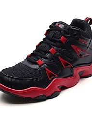Pánské Obuv PU Jaro Podzim Pohodlné Atletické boty Basketbal pro Sportovní Bílá Černobílá Černočervená