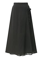 cheap -Women's Simple Wide Leg Pants - Solid Colored