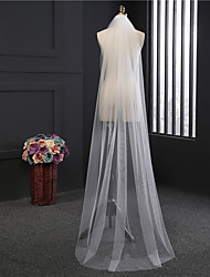 cheap -One-tier Classical Wedding Veil Chapel Veils 53 Fringe Tulle