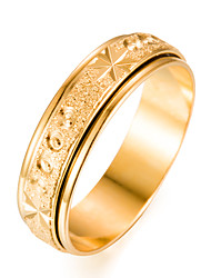 cheap -Men's Gold Plated Band Ring - Circle Fashion Gold Ring For Gift / Valentine