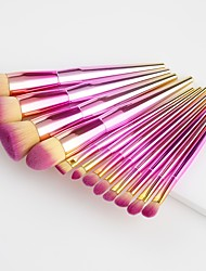 cheap -11pcs Professional Makeup Brushes Foundation Brush / Powder Brush / Lip Brush Nylon Brush / Nylon Soft / Comfy / Full Coverage Silica Gel