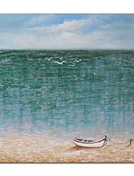 cheap -STYLEDECOR Modern Hand Painted the Sea Oil Painting on Canvas for Living Room Bedroom