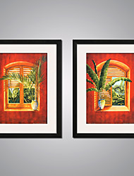 cheap -Stretched Canvas Prints Comtemporary, Two Panels Canvas Vertical Print Wall Decor Home Decoration