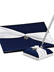 cheap -Satin Romance Fantacy WeddingWithBow(s) 1 Package Box Guest Book
