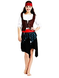 cheap -Pirates of the Caribbean / Pirate Costume Men's / Women's Halloween / Carnival / Children's Day Festival / Holiday Halloween Costumes Coffee Solid Colored