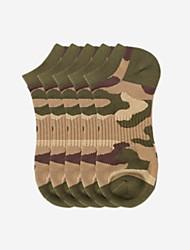 abordables -Chaussettes Moyen Nylon camouflage Normal Homme, 5 Chameau Vert Véronèse