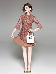 preiswerte -Damen Schlank A-Linie Hülle Kleid - Grundlegend, Blumen