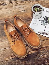 baratos -Homens sapatos Couro de Porco Primavera Outono Conforto Sapatos de Barco para Casual Ao ar livre Preto Cinzento Amarelo