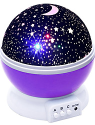 billige Originale lamper-BRELONG® 1pc Sky Projector NightLight AAA batterier drevet For barn Stress og angst relief Atmosfære Lampe