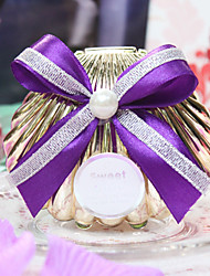 cheap -Shell Plastic Favor Holder with Satin Bow Favor Boxes - 1pc