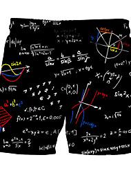 baratos -Homens Esportivo Boho Shorts Chinos Calças - Estampa Colorida Letra