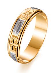 Недорогие -Муж. Жен. Кольцо , Золотой Позолота Круглый Мода Подарок Подарок Валентин Бижутерия