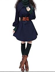 Kvinders vintage trench coat - solid skjorte krave
