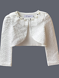 cheap -Girls' Daily Solid Blouse, Cotton Spring Long Sleeves Simple White