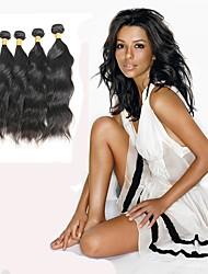 Недорогие -Индийские волосы Естественные волны Ткет человеческих волос 4шт 0.4