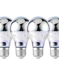 baratos -YouOKLight 4pçs 4W 320lm E26 / E27 Lâmpada Redonda LED 25 Contas LED SMD 2835 Fogo de artifício 3D Decorativa Branco Frio RGB 85-265V