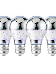 abordables -YouOKLight 4pcs 4W 320lm E26 / E27 Ampoules Globe LED 25 Perles LED SMD 2835 Feu d'artifice en 3D Décorative Blanc Froid RVB 85-265V