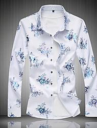 abordables -Chemise Grandes Tailles Homme, Fleur - Coton