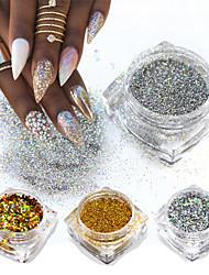 Недорогие -8 Порошок блеска Элегантный и роскошный Блеск и блеск Советы для ногтей Дизайн ногтей