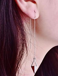 cheap -Women's Tassel / Long Drop Earrings / Hoop Earrings - Simple, Fashion Silver For Gift / Holiday
