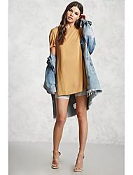 preiswerte -Damen Solide - Street Schick Festtage Baumwolle T-shirt