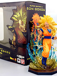 cheap -Anime Action Figures Inspired by Dragon Ball Son Goku PVC 17 CM Model Toys Doll Toy