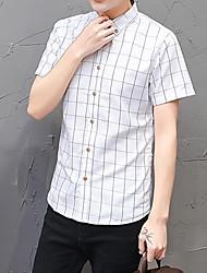 economico -Camicia Per uomo Romantico Attivo Con stampe,A quadri