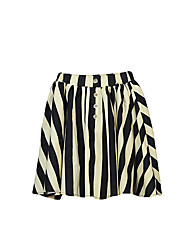 cheap -Girls' Daily Striped Skirt, Polyester Spring Simple Black