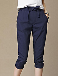 cheap -Women's Cute Street chic Harem Pants - Solid Colored