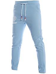 economico -pantaloni chino micro elasticizzati da uomo di media altezza, molla in poliestere a lettera semplice