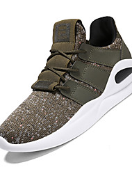cheap -Men's Knit Spring / Summer Comfort Sneakers Black / Gray / Green