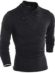 preiswerte -Herrn Solide T-shirt, Rollkragen