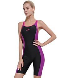 cheap -Women's Athletic Swimwear Comfortable Sports Nylon Spandex Sleeveless One-piece Swimwear Swimming
