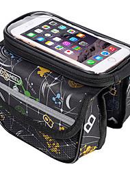 economico -ROSWHEEL Borsa da bici 2L Marsupio triangolare da telaio bici Bag Cell Phone Indossabile Strisce riflettenti Marsupio da bici Poliestere
