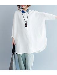 Недорогие -Жен. Пэчворк Рубашка Классический Контрастных цветов