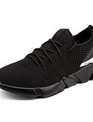 cheap -Men's Shoes Knit Spring Fall Comfort Athletic Shoes Walking Shoes for Casual Black Gray Black And White