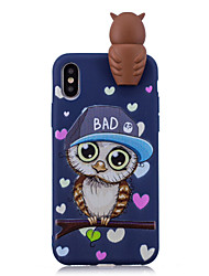 Etui Til Apple iPhone X iPhone 8 Plus Mønster Bagcover Ugle Blødt TPU for iPhone X iPhone 8 Plus iPhone 8 iPhone 7 Plus iPhone 7 iPhone
