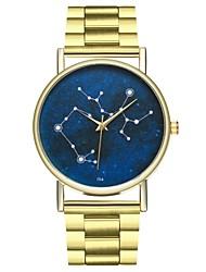 baratos -Mulheres Chinês Relógio Casual / Fase da lua / Legal Aço Inoxidável Banda Minimalista Dourada / SSUO LR626